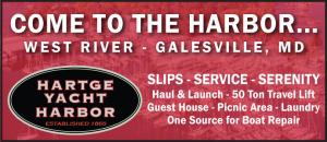 Hartge Yacht Harbor located in Galesville, Maryland on the West Rive has Slips, Service, and Serenity.