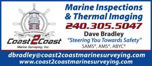Coast 2 Coast Marine Surveying, Inc. are experts in Marine Inspections and Thermal Imaging, based in St. Leonard, MD with offices close to Annapolis, MD and Smith Mountain Lake, VA.