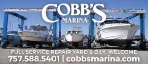 Cobbs Marina is a full service repair yard located on Little Creek in Norfolk, Virginia