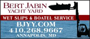 Bert Jabin Yacht Yard is a full service yacht yard and certified clean marina located on Back Creek in Annapolis, Maryland