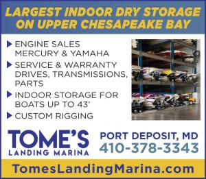 Tomes Landing Marina located in Port Deposit, Maryland has slips, service and sales of performance boats.