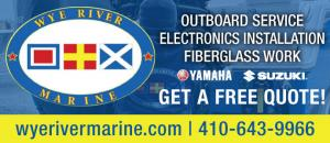 Wye River Marine offers outboard service for Yamaha and Suzuki, electronics installation, and fiberglass work.